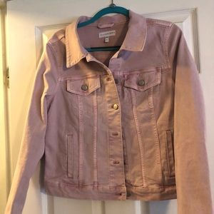 Loft Pink Denim Jacket